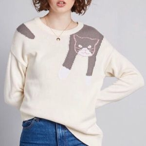 ModCloth Hang in There cat sweater